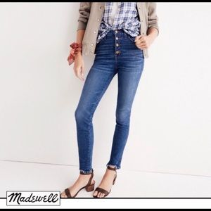 """Madewell button fly 10"""" high rise jeans"""